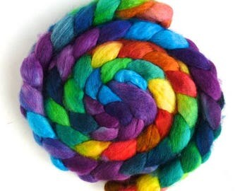 BFL Wool Roving - Hand Painted Spinning or Felting Fiber, Storm's End