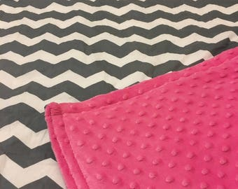 """Weighted Therapy Blanket, Throw Sized (40"""" x 60""""), custom and handmade by Anja's Creations"""