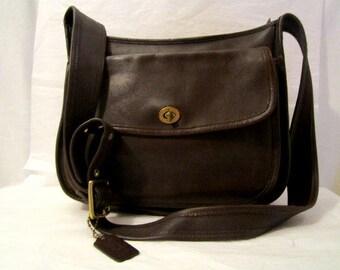 Coach Bag, Coach Unisex Leather Bag Brown leather shoulder cross-body bag