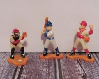 Vintage Baseball Players Cake Toppers