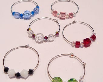 CLOSE OUT SALE:  Wine Glass Charms set of 6