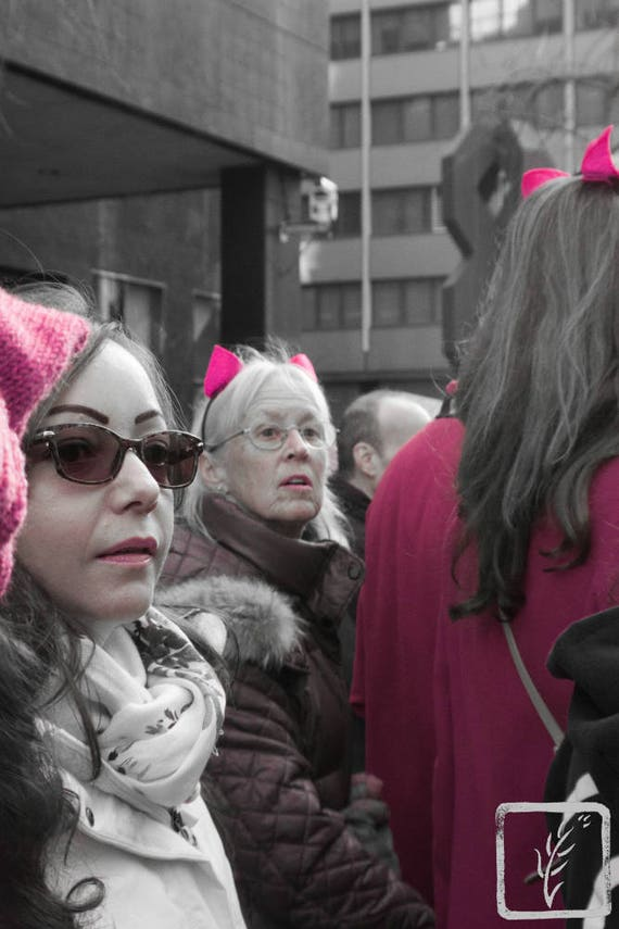 """Ears,"" New York City Women's March, 2017."