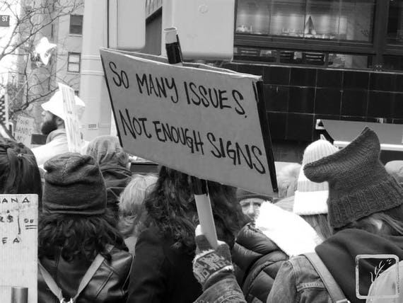 """So Many Issues,"" New York City Women's March, 2017."