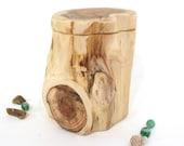 Pacific Yew Tree Trunk Box, small cremation urn, valet box, wooden jewelry box, 5th wedding anniversary, retirement gift, gratitude box