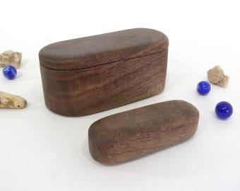 Black Walnut Box & Spirit Shaker set, pagan altar, talisman, shamanic journey, meditation, musician gift, shaman rattle, spiritual gift