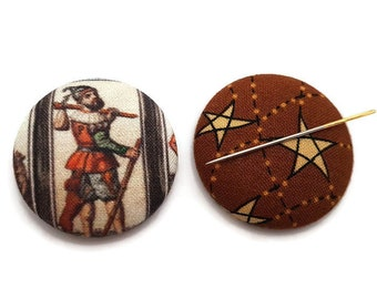 The Fool Tarot Card-Fool Needle Minder-Reversible Needleminder-Witchy Needle minder-Tarot Needleminder-Cross Stitch-Needlepoint-Embroidery
