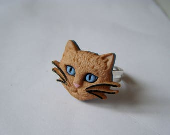 ♥♥♥♥ Ring Cat Head Rusty ♥ ♥