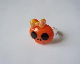Ring - Skull - orange