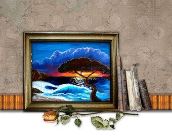 Arise Shine 20X16 original acrylic painting (digital, printable file)