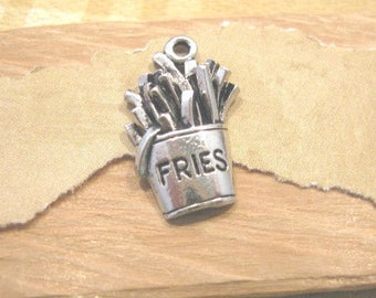 Antique Pewter French Fries Charm from Quest Beads and Cast