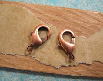 Lobster Clasp 15mm in Antique Copper from Nunn Design - 2 Count