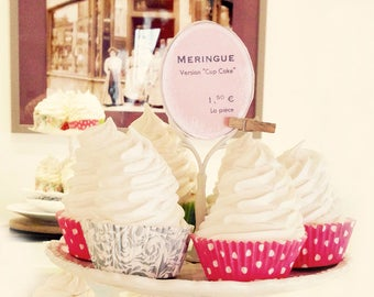 Paris Photography Food Print Meringue French Bakery Wall Art