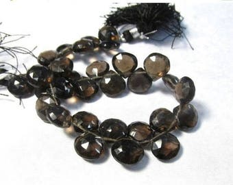 SALE Out Of TOWN Natural Smokey Quartz Briolette Beads 10mm 11mm, Natural Smoky Quartz Gemstone Briolette Beads