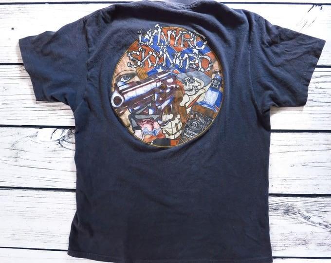 Vintage 1980s Lynyrd Skynyrd Concert Tour T Shirt L
