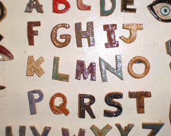 Set of Ceramic Alphabet Magnets