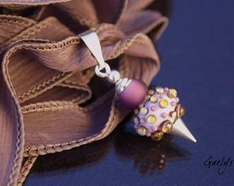 Silv - collier pendentif gaelys, pendentif interchangeable et ruban soie