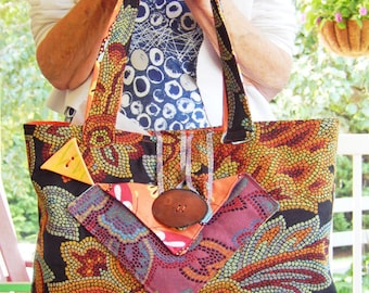 Tilda Tapestry - A Large Tapestry Cloth Bag in Vibrant Colors