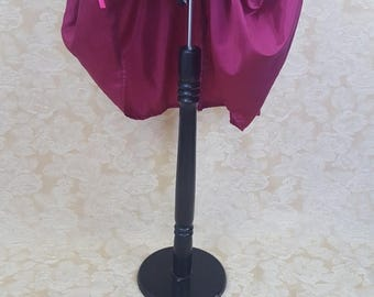 """SUMMER SALE Magenta Knee Length Bustle Skirt-One Size Fits Up To A 52"""" Waist"""