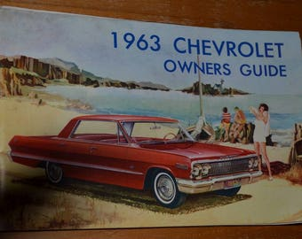 1960s 1963 chevrolet owners manual.  Illustrated booklet.