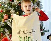 Personalized Red Truck Santa Bag Christmas Gift Bag Personalized Gift Bag Embroidered with Name
