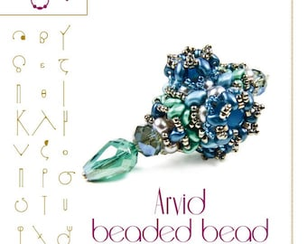 Beading tutorial / pattern Arvid beaded bead Beading instruction in PDF – for personal use only