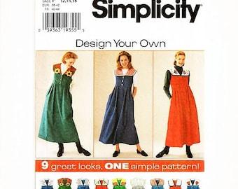 SALE 25% Off Womens Jumper Pattern Misses Size 12 14 16 UNCUT Jumper Dress Pattern with Detachable Collar Midi Dress Sewing Pattern