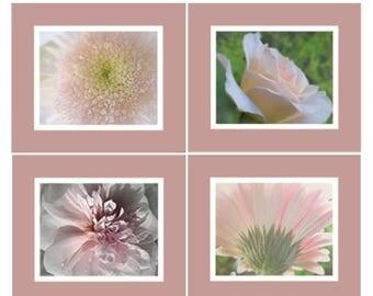 CIJ SALE Pink Floral Photos, Photo Collection, Floral Wall Art, Garden Floral Photos, Garden Photo Art, Nature Photography, Garden Wall Art