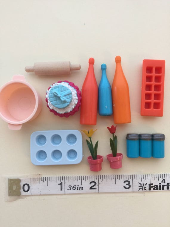 Destash Sale- Fashion Doll size Kitchen Accessories  1:6 scale