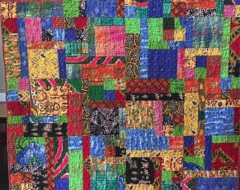 Summer sale Dreaming of My Ancestral Home 60x75 African lap quilt