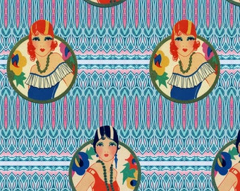 Flapper Fabric - Ladies By Spiffydame - Flapper + Art Nouveau Home Decor Cotton Fabric By The Yard With Spoonflower