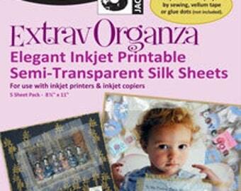 ExtravOrganza: Inkject Printable Organza Silk Sheets