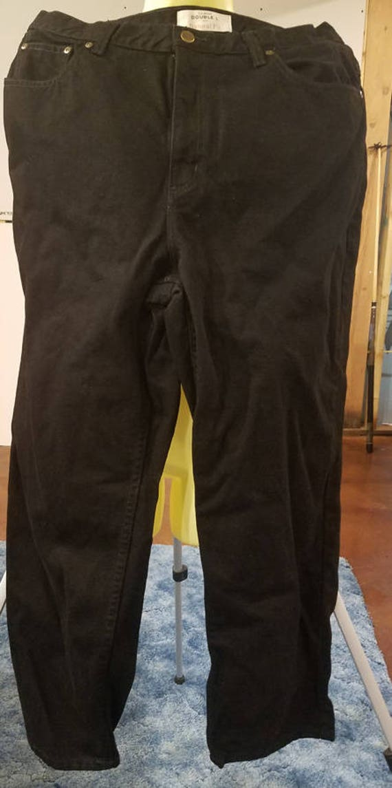 vintage black jeans pants womens 35 x 27 size 18 vintage jeans denim 90s clothing