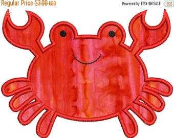 SALE 65% OFF Cute Crab Applique Machine Embroidery Design 4x4 and 5x7 Instant Download