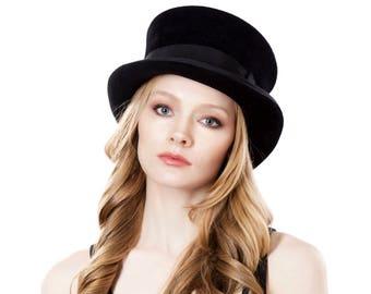 Top Hat Black Top Hat Victorian Riding Hat Coachmans Hat Fall Fashion Steampunk Fashion John Bull Top Hat Formal Hat Dressy Hat Black Hat