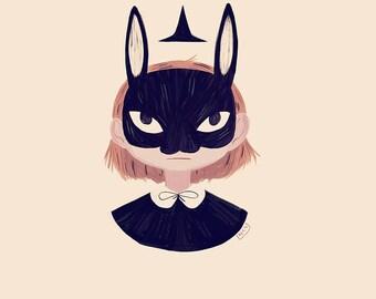 Rabbit Face - Print