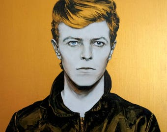 David Bowie Oil Painting / Custom-made