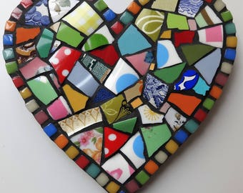 Heart Decoration, Mosaic Heart, Gift for her,