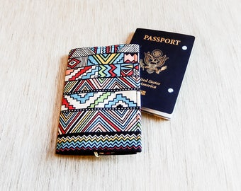 Passport Wallet, Fabric Passport Cover, Southwestern Fabric Passport Cover, Passport Folder, Travel Gift, Grad Gift, Fabric Passport Wallet
