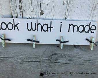 Look What I Made, Art Work Display, Brag Board In Cream, School Work Display - Ready To Ship