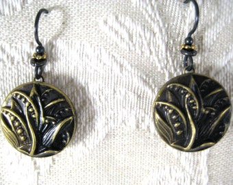 Lily-of-the-Valley VICTORIAN BUTTON EARRINGS