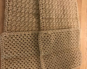 Tan dish cloths (4)