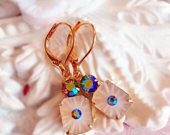 SALE 20% Off Art Deco Earrings ~ Victorian Jewelry - Vintage Earrings ~ Best Birthday Gift for Wife - Art Deco Jewelry - MIDNIGHT TRYST
