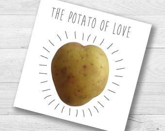 The Potato Of Love Card
