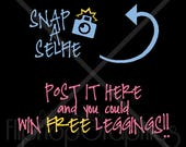 Snap-A-Selfie Vehicle Decal - Vinyl Graphic