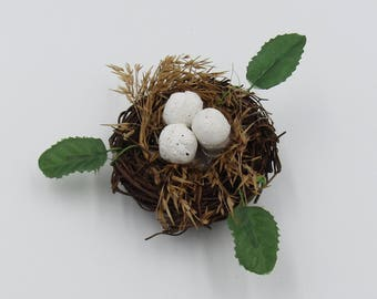"""2""""  Ivy and Egg Bird's Nest Party Favors, Centerpiece Supply, Fairy Garden Display"""