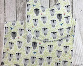 Sheep Baby Gift Organic Teething Neutral Sheep Theme Nursery Burp Cloth Set Sheep Fabric Farm Baby Shower New Baby Gift Absorbant Bibs