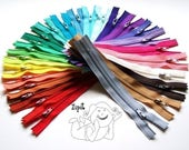 Special Price - 25 Assorted YKK All Purpose Zippers- Available in 3,4,5,6,7,8,9,10,11,12,14,16,18,20 and 22 Inches