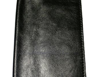15% OFF Black Leather Passport Cover For Men & Women - Accessories