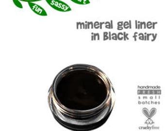 Non Toxic Organic Mineral Gel Eyeliner in BLACK FAIRY Natural Gel Eyeliner | Cruelty Free Gluten Free Makeup