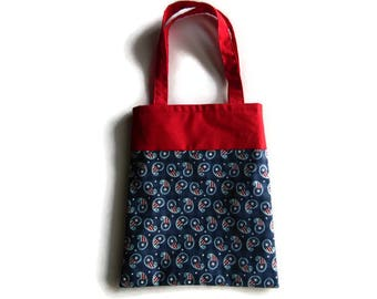 4th of July Paisley Gift Bag - Goodie Bag - Mini Tote